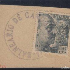 Sellos: MATASELLO CARTERÍA BALNEARIO DE CARDO (TARRAGONA ) SOBRE SELLO FRANCO . LUJO . Lote 115329459