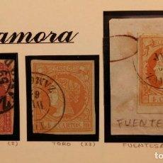 Sellos: ZAMORA RESTO COLECCION 4 CUARTOS FECHADORES - LOTE TAL FOTO - ISABEL II ESPAÑA-SPAIN. Lote 115522311