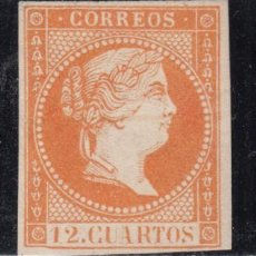 Sellos: ESPAÑA, 1855 EDIFIL Nº NE 1A M , ISABEL II , MUESTRA. Lote 129104564