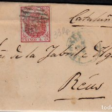 Sellos: CARTA ENTERA CON SELLO NUM 33 AP DE JOSE M. DE SANTOS EN VITORIA -1855-FECHADOR AZUL Y PARRILLA. Lote 117447191
