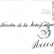 Sellos: CARTA ENTERA CON SELLO NUM 33 DE JOSÉ CERIOLA EN MADRID -1855-FECHADOR AZUL Y PARRILLA. Lote 117454923
