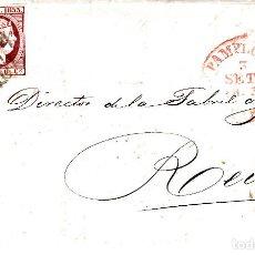 Sellos: CARTA ENTERA CON SELLO NUM 17 DE BELTRAN ARPASEN EN PAMPLONA 1853- BAEZA Y PARRILLA . Lote 117457243
