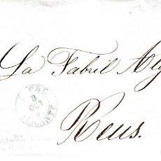 Sellos: CARTA ENTERA CON SELLO NUM 48 DE JOSÉ M. LOPEZ EN ELCHE -1857-FECHADOR AZUL Y PARRILLA. Lote 117459199