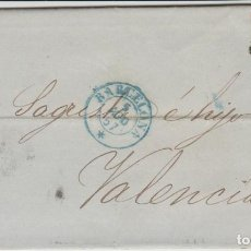 Sellos: CARTA TEMA SELLOS BARCELONA VALENCIA 1857. Lote 118553591