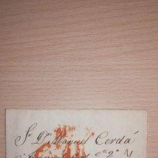 Sellos: ANTIGUA CARTA PREFILATELICA, ISABEL II, VALENCIA, AÑO 1851. Lote 118730819