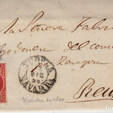 Sellos: CARTA ENTERA CON SELLO NUM 48 DE JUAN FELIPE EN TUDELA - NAVARRA- -1858- . Lote 119200703