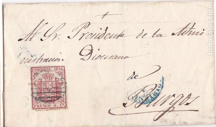 F23-36-ENVUELTA EDIFIL 33A. BRIVIESCA-BURGOS 1855 (Sellos - España - Isabel II de 1.850 a 1.869 - Cartas)