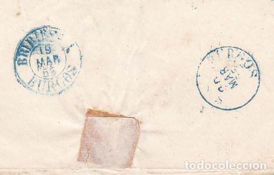 Sellos: F23-36-Envuelta Edifil 33A. BRIVIESCA-BURGOS 1855 - Foto 2 - 120232259