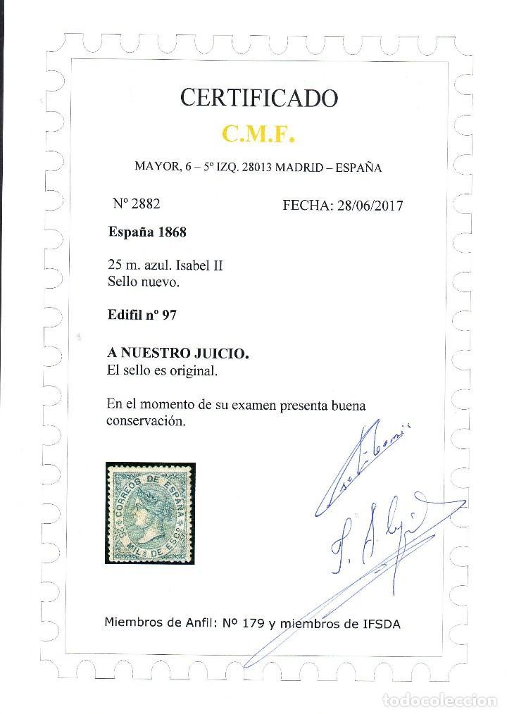 Sellos: 867. EDIFIL 97 **MNH. NUEVO CON GOMA ORIGINAL.CERTIFICADO. VC 390 EUROS. LUJO - Foto 2 - 120367303