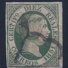 Sellos: EDIFIL 11 ISABEL II. AÑO 1851. MARQUILLADO POR G. ROCHÉ PARÍS Y A. ROIG. VALOR CATÁLOGO: 720 €.. Lote 120613459