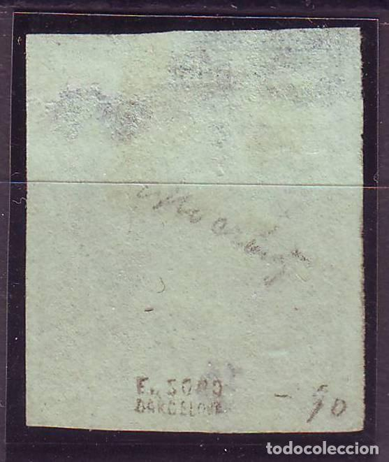 Sellos: AÑO 1855. EDIFIL 55 NUEVO. BONITO. MARQUILLADO.. LEVE ADELGAZAMIENTO. OCASION POR PRECIO VC 390 - Foto 2 - 120991831