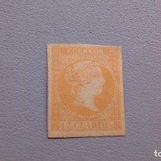 Sellos: EXT- ESPAÑA - 1855 - ISABEL II - EDIFIL NE1 - NO EXPENDIDO - MH* - NUEVO.. Lote 121052031