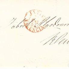 Sellos: CARTA CON SELLO NUM 48 DE JOSÉ SERRA Y PRAT EN XÀTIVA --1857 MATASELLOS DE PARRILLA , FECHADOR ROJO. Lote 121613279