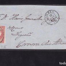 Sellos: F25-47-FRONTAL BILBAO-CERVERA DEL RIO ALHAMA 1858. RUEDA CARRETA 20. Lote 122047651