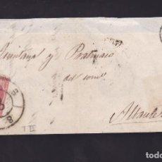 Sellos: F25-53-ENVUELTA VALENCIA-ALBACETE 1859. RUEDA CARRETA 8. Lote 122047739