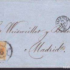 Sellos: F25-54-ENVUELTA VALENCIA-MADRID 1860. RUEDA CARRETA 8. Lote 122047771