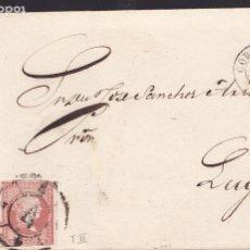 Sellos: F25-57-CARTA COMPLETA CORUÑA -LUGO 1859. RUEDA DE CARRETA 4. Lote 122047823