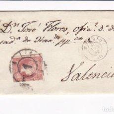 Sellos: F25-59-ENVUELTA MADRID-VALENCIA 1859. RUEDA DE CARRETA 1. Lote 122047859