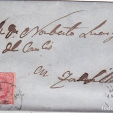 Sellos: F25-60- CARTA COMPLETA BENAVENTE (ZAMORA)-TORDESILLAS 1864. RUEDA CARRETA 52. Lote 122095291