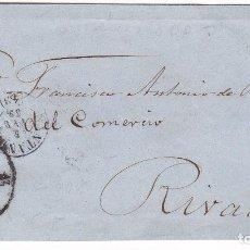 Sellos: F25-61- ENVUELTA SANTANDER-RIVADEO 1859. RUEDA CARRETA 43. Lote 122095651