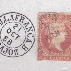 Sellos: CL8-19- CLÁSICOS EDIFIL 48. MATASELLOS VILLAFRANCA BADAJOZ. Lote 122102039