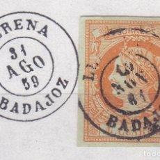 Sellos: CL8-21- CLÁSICOS EDIFIL 52. MATASELLOS LLERENA BADAJOZ. Lote 122102923