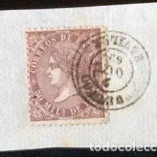 Sellos: FRAGMENTO CON EDIFIL 98 MATASELLO FECHADOR 1857.. Lote 122141019