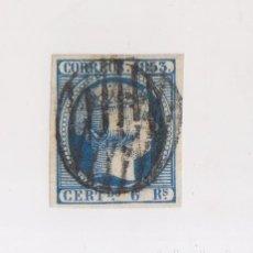 Sellos: EDIFIL 21. 6 REALES AZUL DE 1853. ENORMES MÁRGENES. MUY BUEN EJEMPLAR CON CERTIFICADO CEM DE 2006. . Lote 123581291