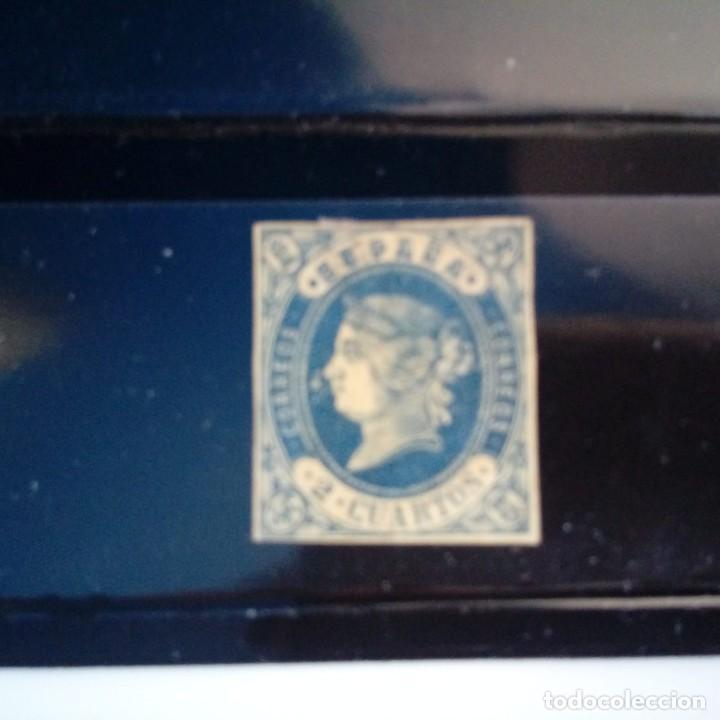 EDIFIL 57 *. ESPAÑA 1862. 2 CUARTOS ISABEL II (Sellos - España - Isabel II de 1.850 a 1.869 - Nuevos)