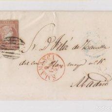 Sellos: ENVUELTA DE SALAMANCA A MADRID. PARRILLA Y FECHADOR EN ROJO. BUENA ESTAMPACIÓN. 1856. Lote 126380859