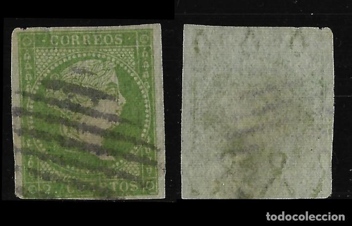 Sellos: Sellos. España. 1855. Isabel II. Serie completa. Matasello .Edif. N º39-42 - Foto 2 - 126584819