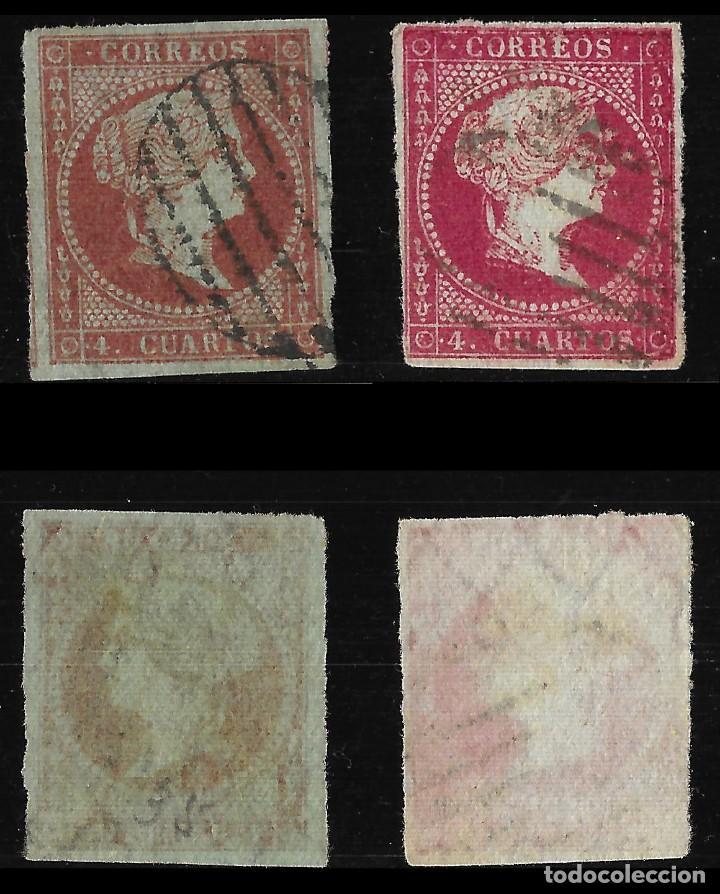 Sellos: Sellos. España. 1855. Isabel II. Serie completa. Matasello .Edif. N º39-42 - Foto 3 - 126584819