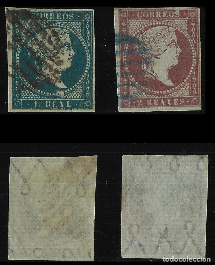 Sellos: Sellos. España. 1855. Isabel II. Serie completa. Matasello .Edif. N º39-42 - Foto 4 - 126584819