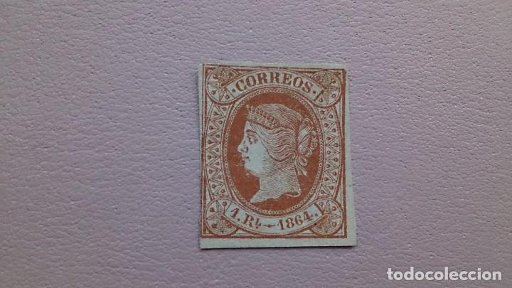ESPAÑA - 1864 - ISABEL II - EDIFIL 67 - MH* - NUEVO - VALOR CATALOGO 275€. (Sellos - España - Isabel II de 1.850 a 1.869 - Nuevos)