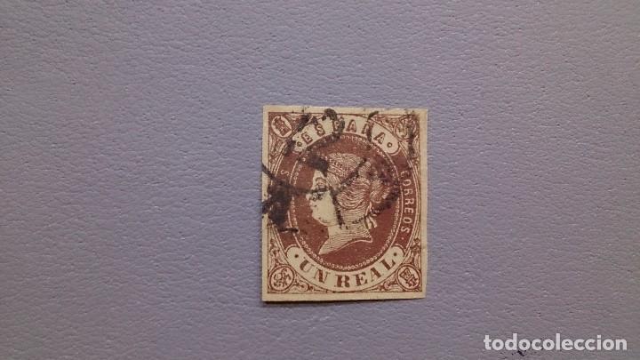 ESPAÑA - 1862 - ISABEL II - EDIFIL 61 - BONITO - MARGENES IGUALADOS - COLOR VIVO Y CONSERVADO. (Sellos - España - Isabel II de 1.850 a 1.869 - Usados)