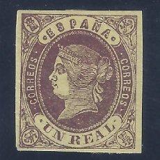 Sellos: EDIFIL 61 ISABEL II. AÑO 1864. VALOR CATÁLOGO: 87 €. MH *. Lote 129469183