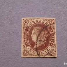 Sellos: ESPAÑA - 1862 - IASBEL II - EDIFIL 61 - MARGENES IGUALADOS - BUEN COLOR - LUJO.. Lote 129726127