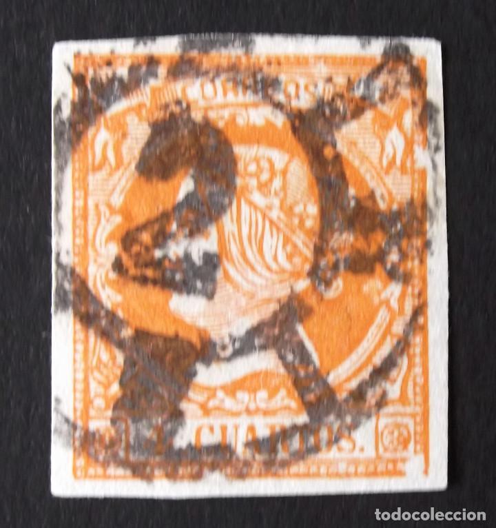 EDIFIL 52, MATASELLADO. (Sellos - España - Isabel II de 1.850 a 1.869 - Usados)