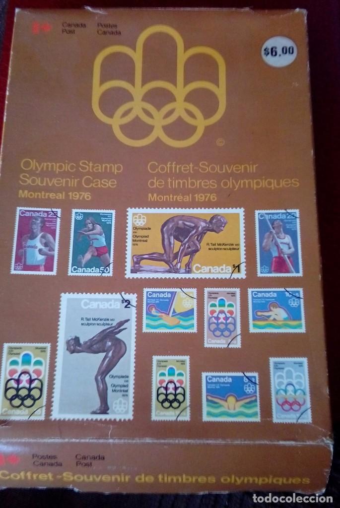OLIMPIC STAMP SOUVENIR CASES MONTREAL 1976 (Sellos - España - Isabel II de 1.850 a 1.869 - Nuevos)