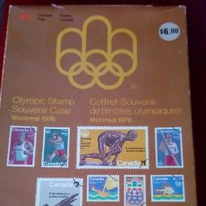 Sellos: OLIMPIC STAMP SOUVENIR CASES MONTREAL 1976. Lote 130607674