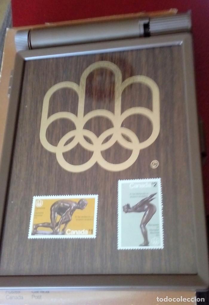 Sellos: Olimpic stamp souvenir cases Montreal 1976 - Foto 2 - 130607674