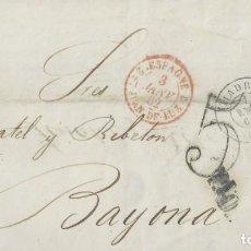 Sellos: ENVUELTA DE MADRID A BAYONA (FRANCIA) EL 1 DE ENERO DE 1862.. Lote 131357426