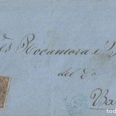 Sellos: CARTA DE 1869 A BARCELONA CON MATASELLOS FECHADOR DE DENIA EN AZUL.. Lote 131439058