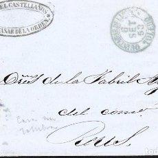 Sellos: CARTA CON SELLO NUM 48 DE MANUEL CASTELLANOS EN QUINTANAR DE LA ORDEN - 1853. Lote 131503618