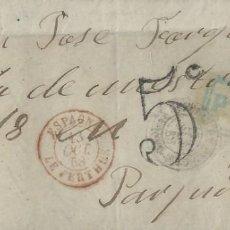 Sellos: CARTA DE 1868 A PERPIGNAN (FRANCIA) CON MATASELLOS FECHADOR DE SANT FELIU DE GUIXOLS (GIRONA).. Lote 131510470