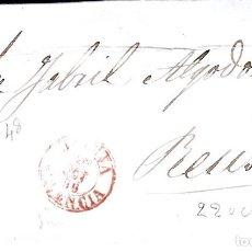Sellos: CARTA CON SELLO NUM. 48 DE J. RIU EN JATIVA-XÀTIVA - 1856 -FECHADOR ROJO. Lote 132025942