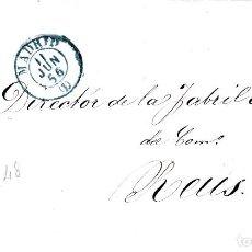 Sellos: CARTA CON SELLO NUM. 48 DE GALAUP ESCOLA EN MADRID 1856 -FECHADOR AZUL. Lote 132026322