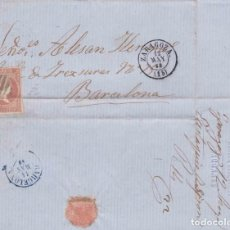 Sellos: AÑO 1856 EDIFIL 48 CARTA MATASELLOS REJILLA ZARAGOZA . Lote 133318426