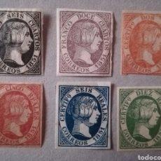 Sellos: ESPAÑA 1851 EDIFIL 6-11 FALSO FILATELICO ISABEL II. Lote 133262694