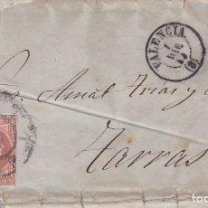 Sellos: F27-53-CARTA VALENCIA TARRASA 1859.IMPRESA MUY INTERESANTE TEMA TRANSPORTES VAPORES,FERROCARRIL ETC. Lote 133474102